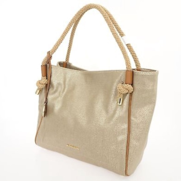 1dea0fbcf15f Michael Kors Isla Large Gold Grab Tote Handbag. Listing Price   60.00